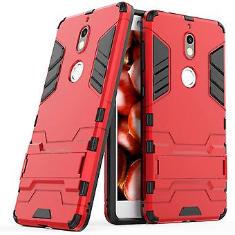 Shell pour Nokia 7 Space Armor Red Hard Plastic Protection Case