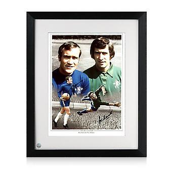 Ron Harris y Peter Bonetti firmaron Chelsea Photo Framed