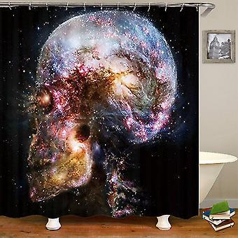 Ванная комната Душевая занавеска, Череп Печатный Водонепроницаемая занавеска для душа