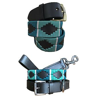 Carlos diaz polo belt dog collar and lead set bundle cdpbhk96 & cdhkplc96