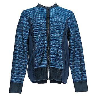 Isaac Mizrahi en direct! Femmes-apos;s Sweater Boucle Navy Bleu A270729