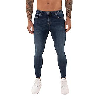 Nimes Super Skinny Spray on Non-Ripped Jeans - Midnight Blue-32S