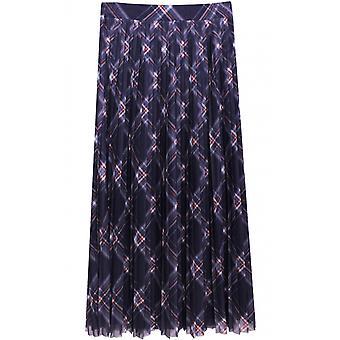 Taifun Check Design Pleated Skirt