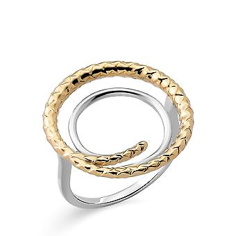 Orphelia Silver 925 Ring with Gold & rhodium  plated