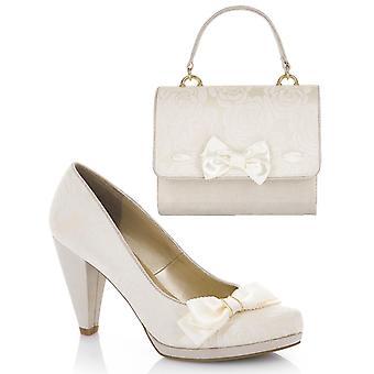 روبي شو المرأة & ق كريم سوزانا المحكمة مضخات الأحذية ومطابقة حقيبة سان مارينو