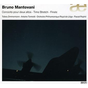 Mantovani - Bruno Mantovanis: Concerto Pour Deux Altos; Tid strækning; Finale [CD] USA importerer