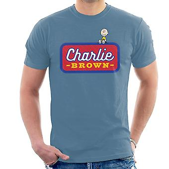 Peanuts Charlie Brown Badge Men's T-Shirt