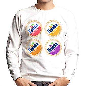 Camisola de Fanta retro 1980 bottlecaps Men ' s