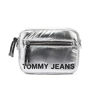 تومي جينز البند كروس حقيبة فضية