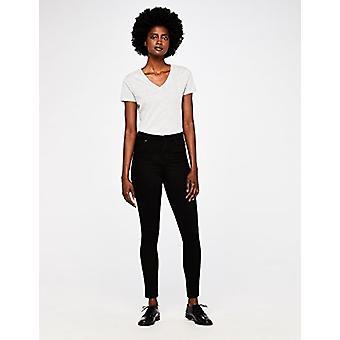 MERAKI Standard Kvinnor's Skinny Hög midja Jeans, (Ren Svart), W30 x L32