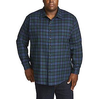 Essentials Men's Big & Tall Langærmet Plaid Flannel Shirt, Black Watch, 4X