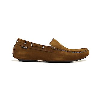 Loake Donington Tan Suede Leather Mens Driving Shoes