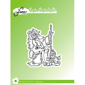 By Lene Funny Cleaning Lady 1 Clear Stamps