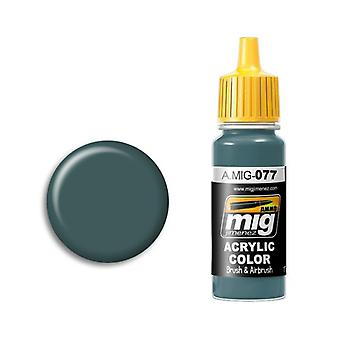 Ammo by Mig Acrylic Paint - A.MIG-0077 Dull Green (17ml)