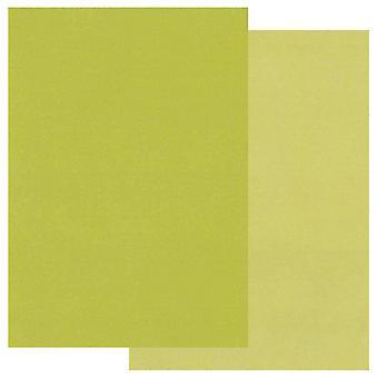Papier parchemin Groovi A5 Deux tons vert