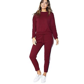 Womens 2Pcs Plus Size Lounge Sports Wear Tracksuit Pants & Top Set