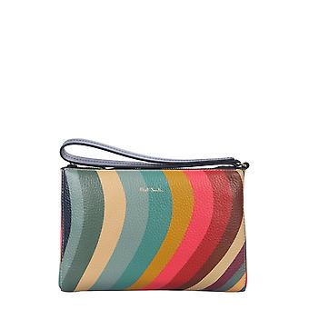 Paul Smith W1a6083cswirl90 Women's Multicolor Leather Clutch