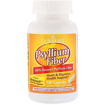 21e eeuw, Psyllium Fiber, 160 Capsules