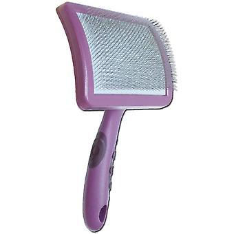 Rosewood Soft Protection Salon Slicker Brush - Moyen