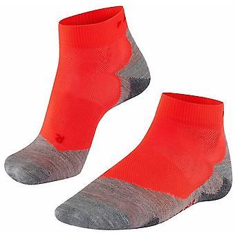 Falke Running 5 Lightweight Short Socks - Neon Red