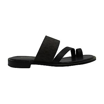 Michael Michael Kors Womens Pratt Leather Open Toe Casual Slide Sandals