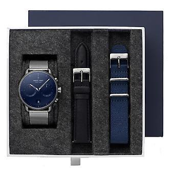 Nordgreen PI42GMNAMEGULEBLNYNA BUNDLE Blue Dial Gunmetal Case Wristwatch