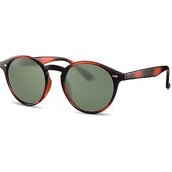 Sunglasses Unisex panto brown/green (CWI2441)