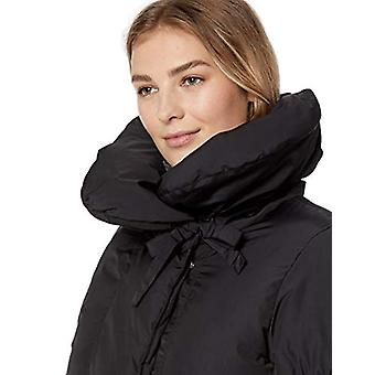 Lark & Ro Women's Shoulder Pillow Collar Gathered Fit and Flare Puffer Jacket...