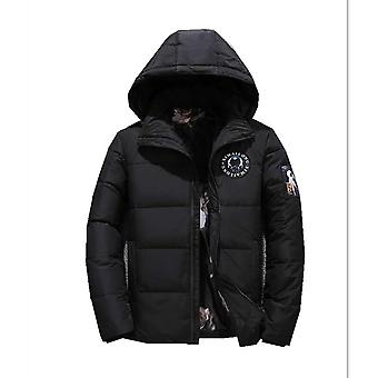 Men Puffer Jacket With Hooded Parkas Thicken Padded Jacket