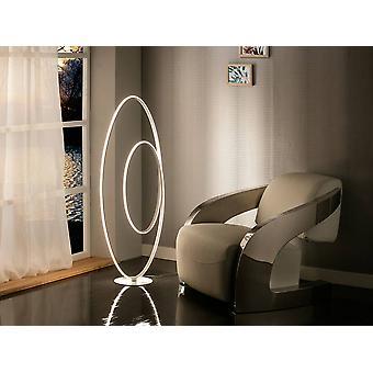 Schuller Loop - Integreret LED gulvlampe Hvid