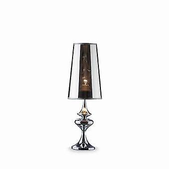 1 lichte kleine tafellamp chrome, E27