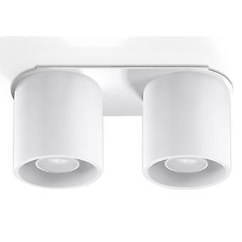 2 Licht Suface Mounted Downlight Weiß, GU10