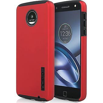 Incipio DualPro Caso para Motorola Moto Z Jugar Droid dos partes - Rojo iridiscente / Negro