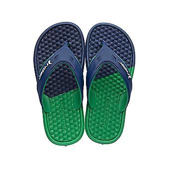 Rider Duo Kids Flip Flops / Sandals - Blue Green