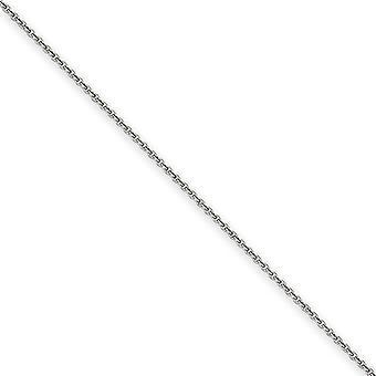 14k oro bianco lucido aragosta artiglio chiusura 1,5 mm cavo solido catena cavigliera - moschettone - lunghezza: 9-10