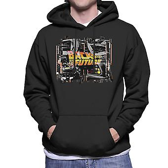 Back to the Future Delorean Montage Men's Hooded Sweatshirt