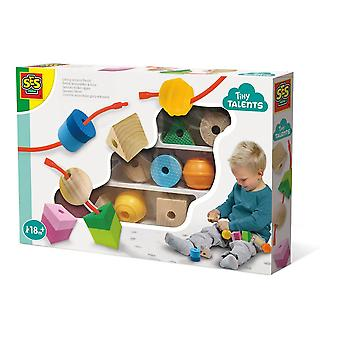 SES Creative Children's Tiny Talents Lacing Sensory Beads Toy Set (13102)