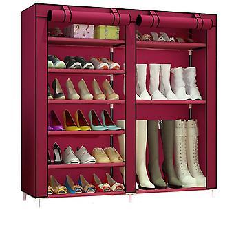 Organizador de sapateira não tecida Móveis Armário de sapatos linhas duplas