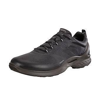 ECCO 837514 Biom Fjuel Men's Lace-up Leather Active Lifestyle Shoes In Black