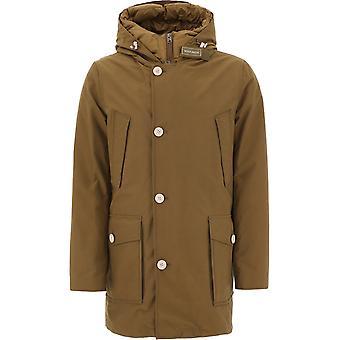 Woolrich Woou0336mrut23487285 Men's Brown Cotton Outerwear Jacket