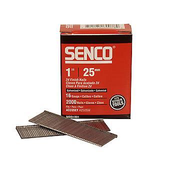 Senco Straight Brad Nails Galvanised 16G x 25mm Pack 2000 SENRX13EAA