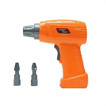 Kids Plastic Simulation Maintenance Tool Electric Toy- Drill Education Toy