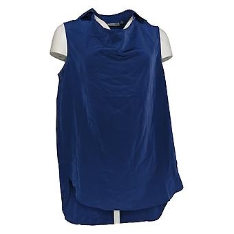 Lisa Rinna Collection Women's Top Sleeveless Cowl Neck Blue A290728