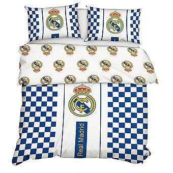 Bettbezug 200 x 220 cm Baumwolle blau/weiß