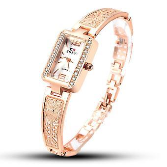 SOXY 123 Rose Gold Case Rectangle Dial Design Ladies Bracelet Watch Fashion