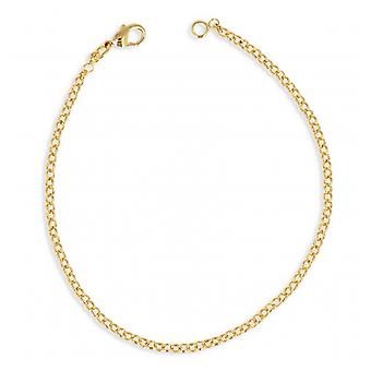 Gold Plated Necklace Maille Jaseron 45cm