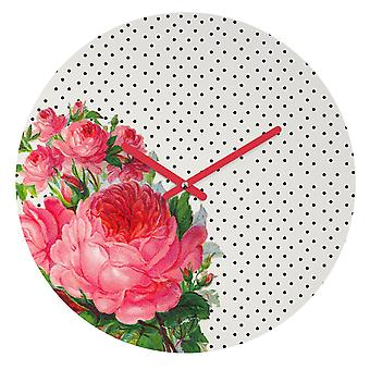 Floral Dots Wall Clock