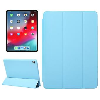 Horizontal Flip Solid Color Leather Case for iPad Pro 12.9 inch (2018), with Three-folding Holder & Wake-up / Sleep Function(Blue)