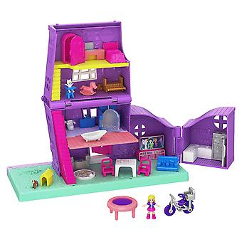 Polly pocket pocket house: 2 stories, 10 accessories & micro dolls