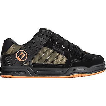 Globe tilt skate shoe - black/camo/orange